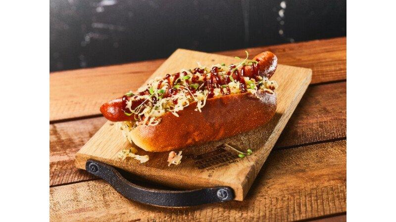 Hot Dog, Dog, Broodje, Brewing Brad, Smokey BBQ Beer, barbecuesaus, Remia