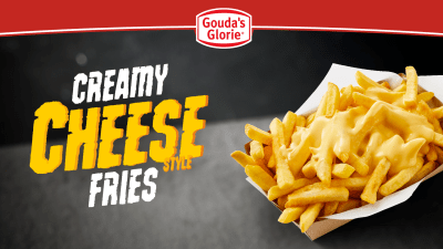 Creamy Cheese Fries, patat, Gouda's Glorie, friet, Creamy Cheese Style
