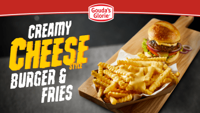 Creamy Cheese Style, Burger, Friet, Patat, hamburger, Gouda's Glorie, Creamy Cheese Style