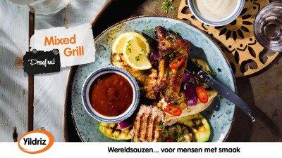 Yildriz, mixed grill, saus